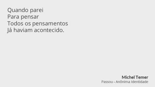 Os poemas de Michel Temer