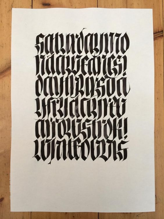 Calligraphy typo design and modern gothic on pinterest