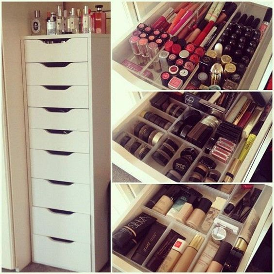 Creative Makeup Organizer Ideas | 7 DIY IKEA Makeup Storage Ideas, check it out at http://makeuptutorials.com/diy-makeup-storage-ideas-makeup-tutorials