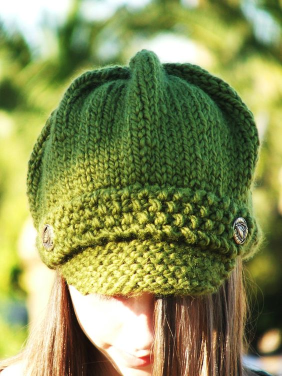 Knit Hat Pattern Graham : Knitting Pattern - Adult Newsboy Hat Pattern Patterns ...
