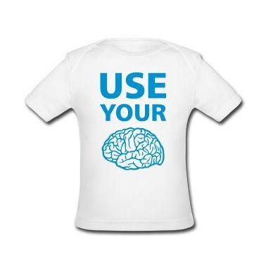 Tee shirt  Use Your Brain - Drôle / Slogan / #cloth #cute #kids# #funny #hipster #nerd #geek #awesome #gift #shop  mermaid earrings goddess of the sea mermaid jewelry siren abalone shell mermaid resort wear celestial beach wear high fashion gypsy boho