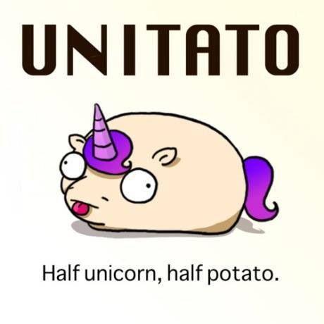 Image result for potato unicorn