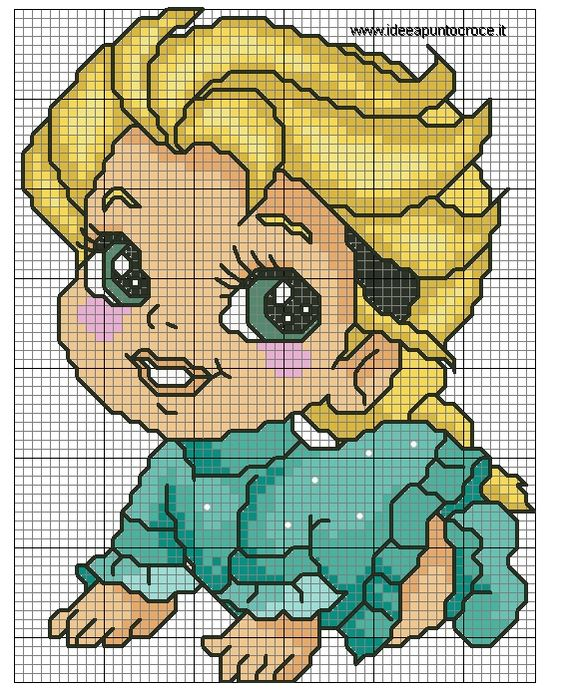 ELSA BABY PUNTO CROCE by syra1974 on DeviantArt