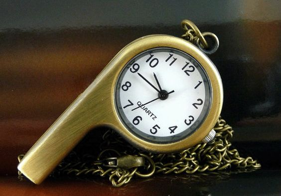 Pocket Watch Charm  Antique Brass Whistle  B040 by ministore, $3.95