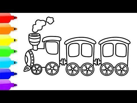 How To Draw A Train Coloring Pages Toy Train Step By Step For
