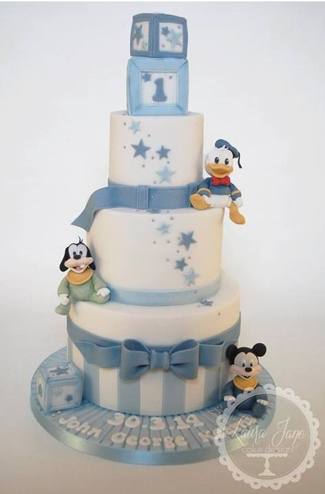 Mickey Mouse baby shower cake