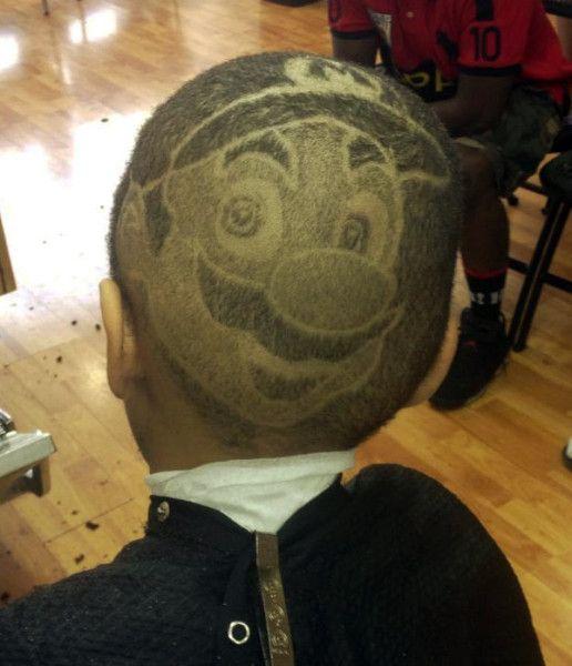 Super Mario shaved head on http://www.drlima.net