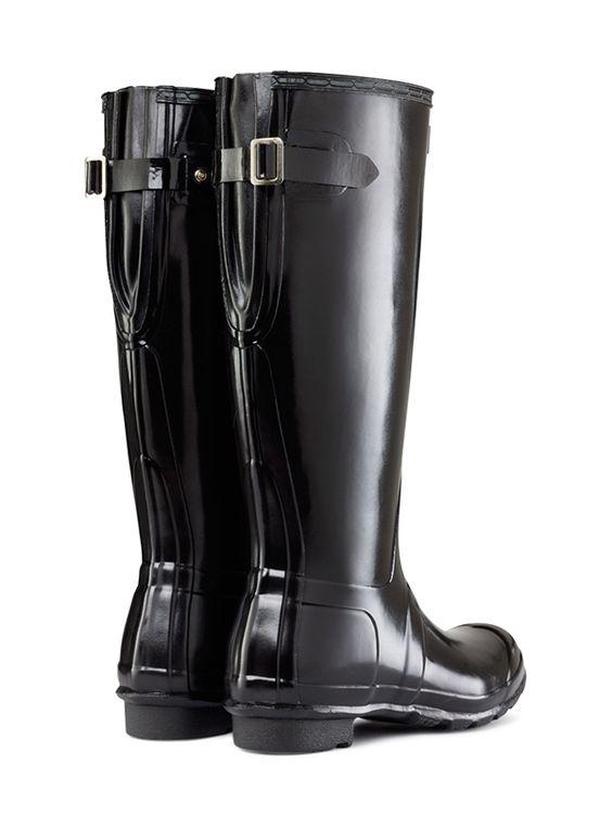 158- better Original Adjustable Gloss Wellington Boots | Hunter Boot Ltd