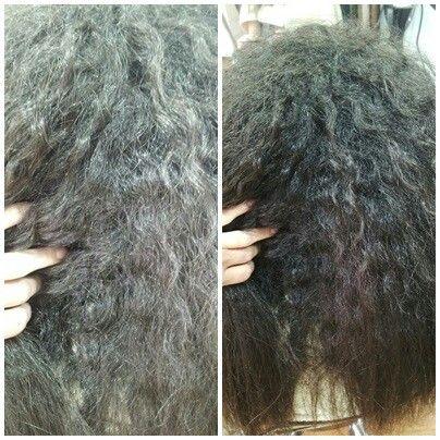 Tratamiento de keratina pelo rizado