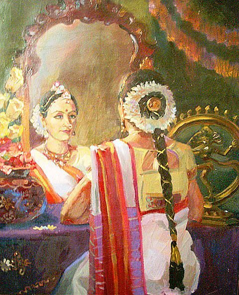 INDIAN PAINTING,south indian woman