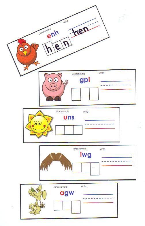 Cvc spelling cards