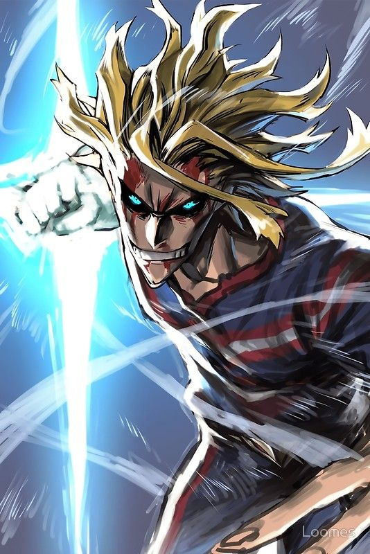 All Might My Hero Academia Posters By Loomes Redbubble With