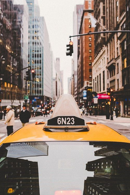 New York - Rue - Centre - Taxi