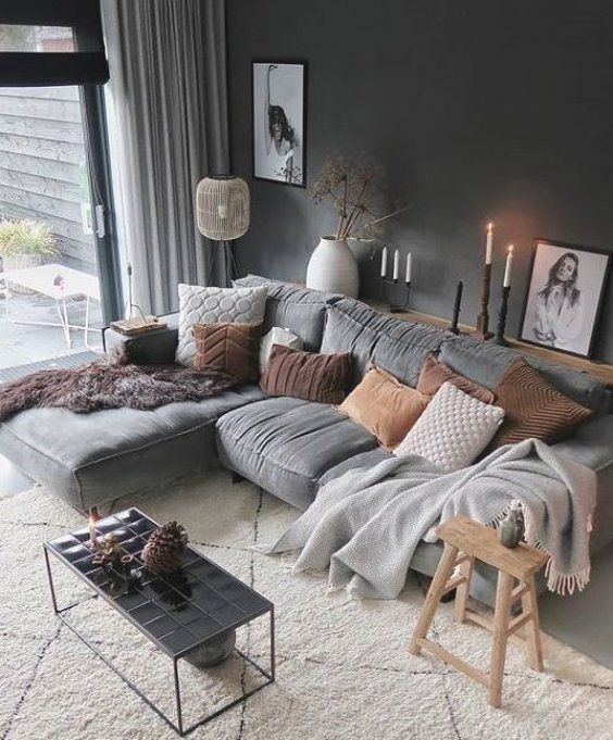 Judith On Instagram Sooooo Great Day Lying In Bed For A Long Time Been To Mothers And I In 2020 Brown Living Room Diy Living Room Decor Living Room Scandinavian