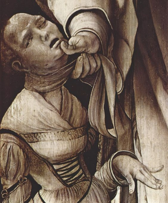 Heller Altarpiece (detalle). 1509 Mathis Gothart Neithardt, llamado Matthias Grünewald. -Mathis der Mahler-