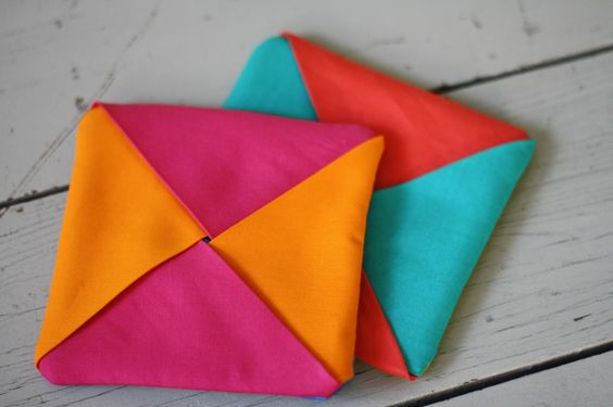 How to sew a fabric coaster For the Love of…