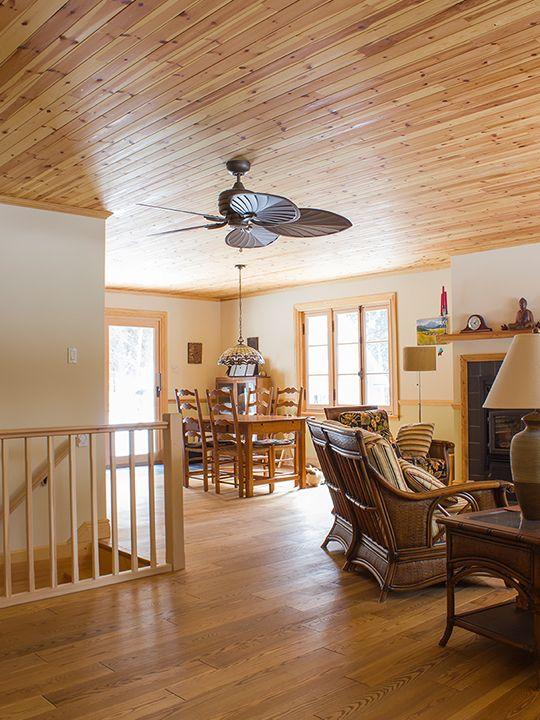plancher 5 en fr ne s lect fini huil couleur vieux pin plafond lambris 3 pin rouge. Black Bedroom Furniture Sets. Home Design Ideas