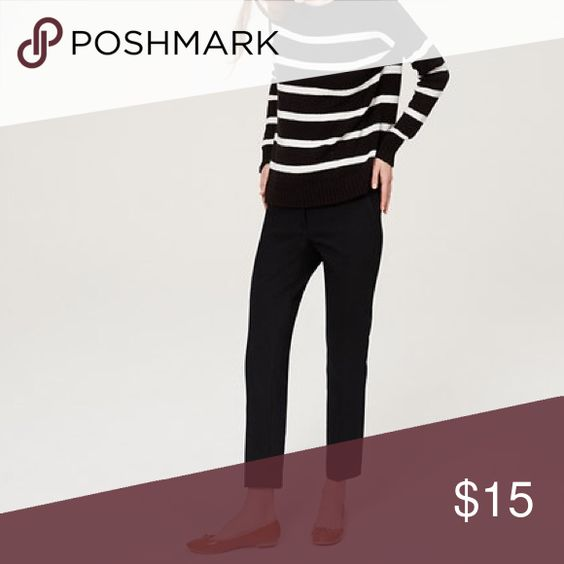"Textured Pencil Pants in Julie Fit | LOFT A textured weave lends the subtlest hint of dimension to these classic pencil pants, impeccably tailored for a polished finish. Our curvy fit - your perfect fit if your waist is smaller, but your hips are curvier. Zip fly with hook and bar closure. Belt loops. Slash pockets. Back button through welt pockets. 28"" inseam. Color: black. LOFT Pants"