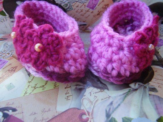 zapatito Princesa en crochet de By Lena-Marques por DaWanda.com