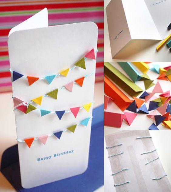 Tarjetas monas tarjetas and escribanos on pinterest - Como hacer tarjetas de cumpleanos ...