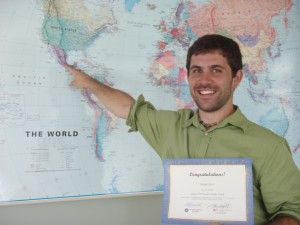 Gregory McCormick! He went to ITAM in Mexico City for AY '11-'12! He won $1,000!!