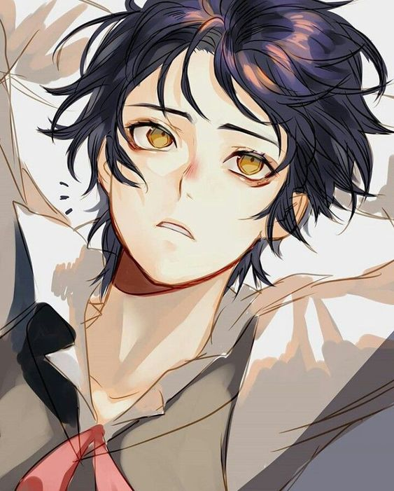Anime Guy Golden Eyes Black Hair Anime Black Hair Black