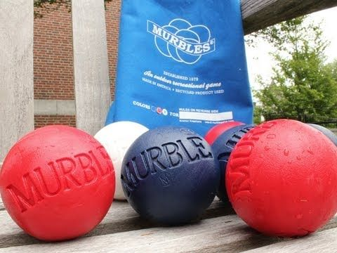 Murbles - Outdoor Lawn Game: With Red, White and Blue Balls