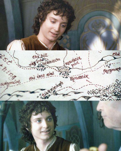Frodo's love and respect of Bilbo, captured in this scene <3