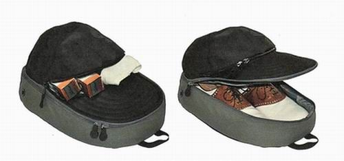 Wholesale Golf Shoe Caddy Pack in the Shape of a Baseball Hat - http://www.hjcloseouts.com/product/wholesale-golf-shoe-caddy-pack-in-the-shape-of-a-baseball-hat/