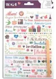 Cette planche de décalcomanies ou transferts (rub-ons) comporte environ 65 motifs sur le thème des évènements (anniversaires, fêtes…) pour transférer vos envies créatives et décoratives !