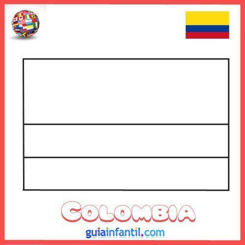 Bandera De Colombia Para Imprimir Y Pintar Dibujos De