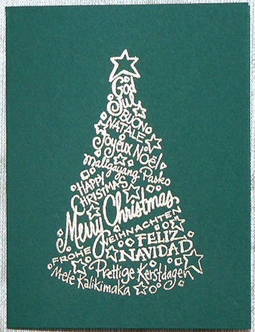 Rbol de navidad original hecho con palabras dise o diane - Arbol de navidad diseno ...