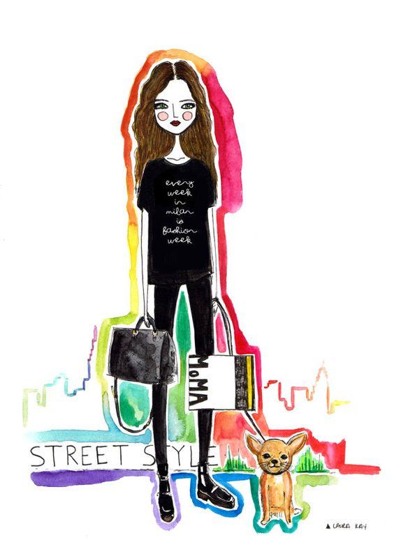 Fashion illustration by diarysketches