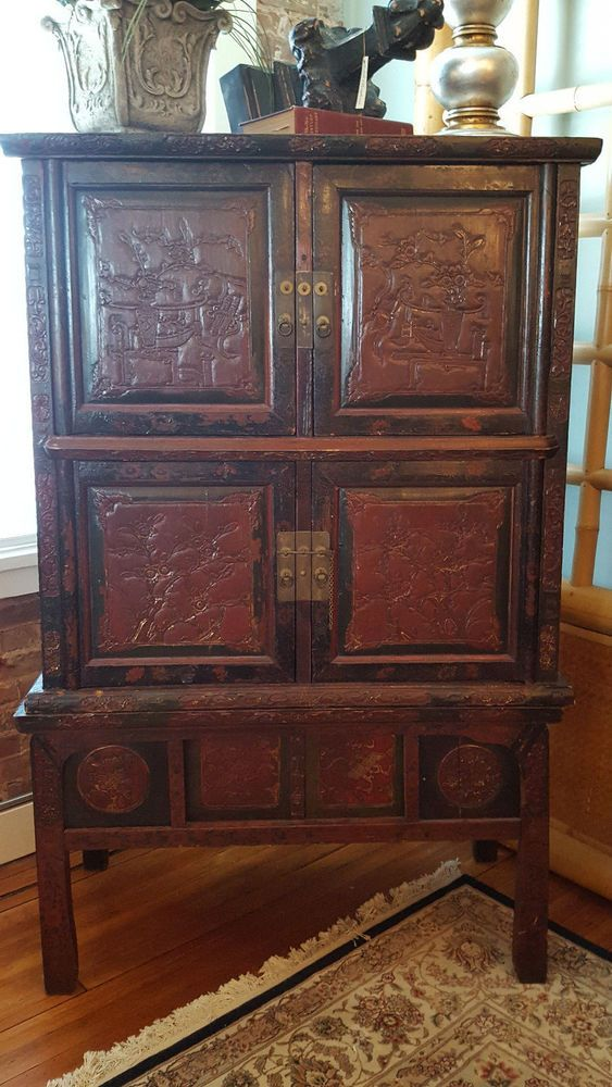 Stunning 19th Century Asian Cabinet