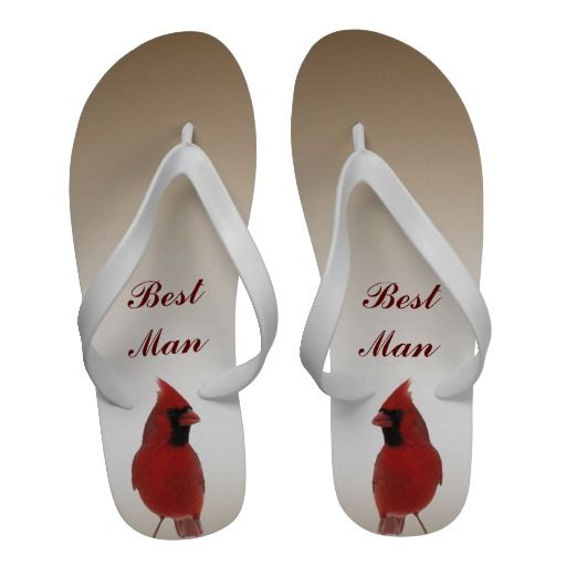 Cardinal Wedding Best Man Sandals