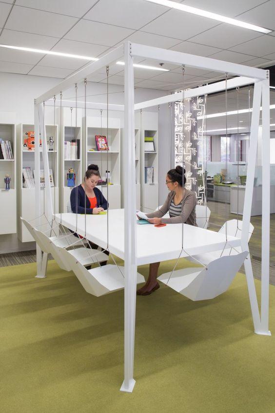 moderne office einrichtung google grünes interieur
