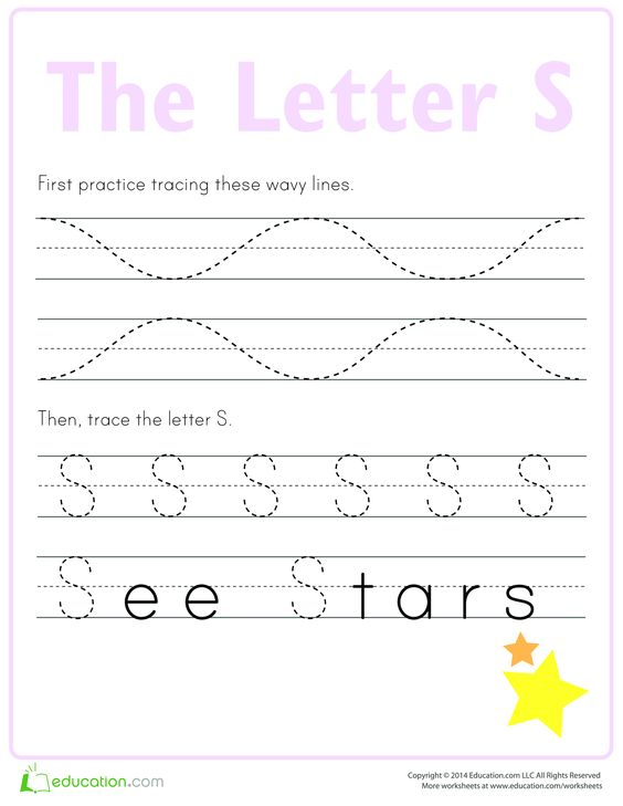 Learn to write letter S - How to write letter S | templates ...