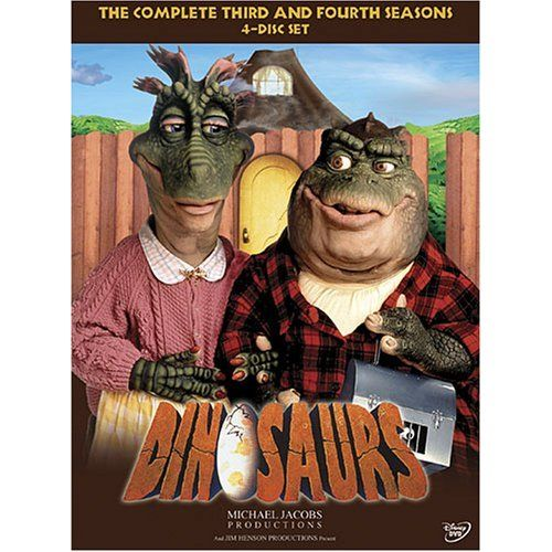 Dinosaurs - this was a live action show, with the dinosaurs playing out there lives like a normal family of the 90s.... the merchandising for it was limited over here in britain but you could get a toy of the baby one. (empireonline.com,2006)
