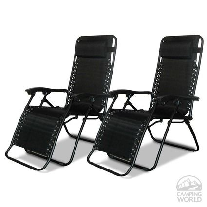 Zero Gravity Recliner - Black, 2 Pack