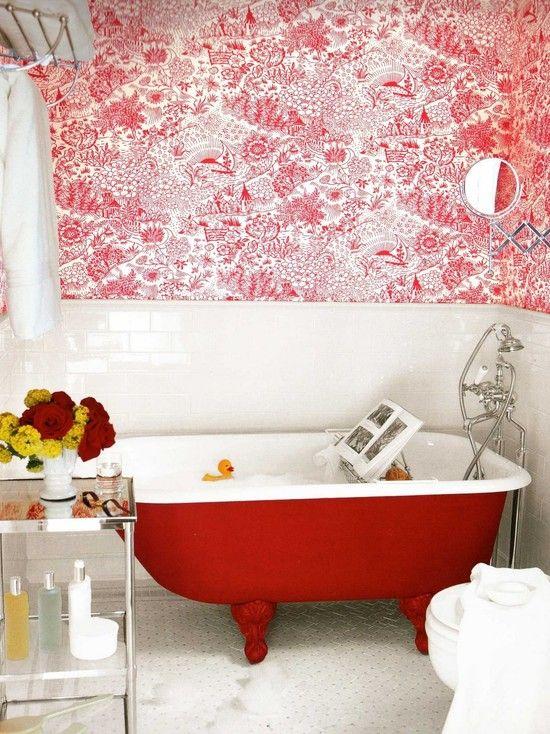 Baignoire sur pied, Salle de bain éclectique and Design on Pinterest