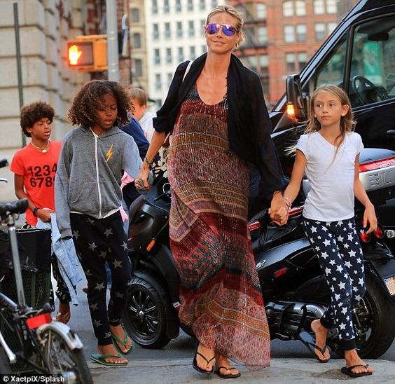 She didn't want to cook: Heidi Klum lead the way to the restaurant as she went hand-in-han...
