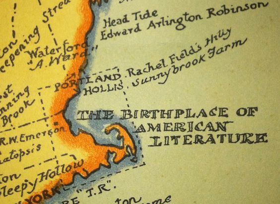 A Booklover's Map of Literary Geography circa 1933 | Brain Pickings