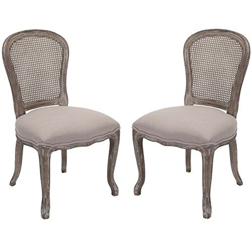 Safavieh Lucy Taupe Oak Side Chair Set Of 2 Safavieh Https