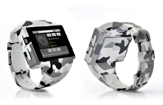 "Android Phone Watch ""Rock"" - 2 Inch Capacitive Screen, 8GB Micro SD, 2MP Camera (ACU Camouflage)                http://www.chinavasion.com/RockAndroidPhoneWatch/"