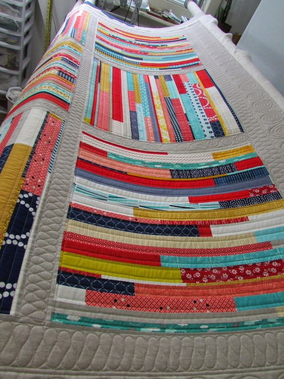"The Quilting Mill: ""Woven"" quilt by Kati Spencer in Scraps, Inc. (Lucky Spool Media).  Quilted by Barbie Mills.:"