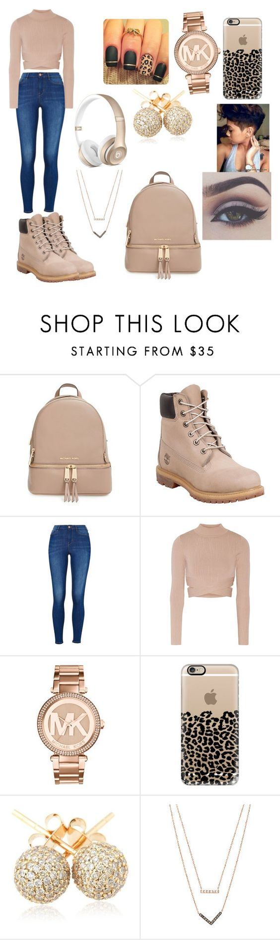 """""""Open House"""" by queenawesome-mykee ❤ liked on Polyvore featuring MICHAEL Michael Kors, Timberland, Jonathan Simkhai, Michael Kors, Casetify, Loushelou, women's clothing, women, female and woman"""