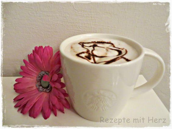 200 g Vollmilch  1 TL Schokoladensirup  1 Espresso   Schlagsahne        Milch in den Mixtopf geben und 3 Min./Stufe 4 ohne Schmetterli...