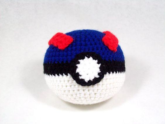Amigurumi Patterns Ball : Amigurumi Pattern Pokemon Inspired Great Ball Craft ...