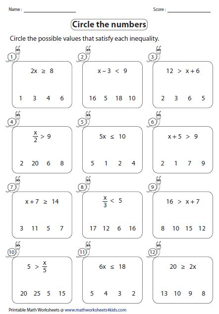 math worksheet : leveled worksheets for one step inequalities involving addition  : Solving Equations By Adding Or Subtracting Worksheets