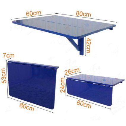 Sobuy mesa de cocina, mesa de madera, mesa plegable de pared, mesa ...